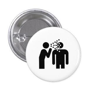 Botón del pictograma de la infección pin