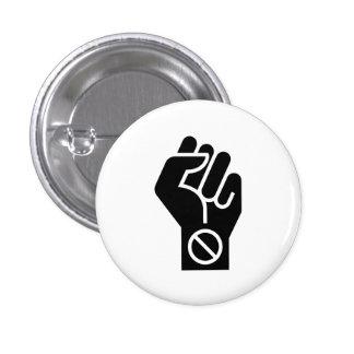"""Botón del pictograma de la """"protesta no violenta"""""""