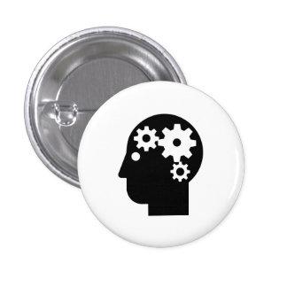 """Botón del pictograma de la """"salud mental"""" pin redondo de 1 pulgada"""