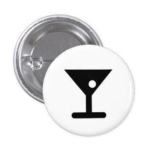 "Botón del pictograma de ""Martini"" Pin Redondo De 1 Pulgada"