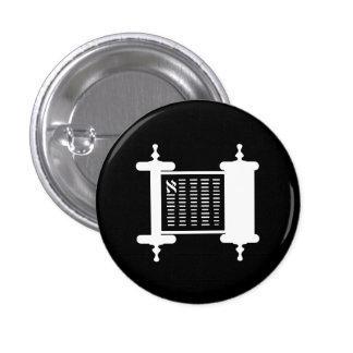 Botón del pictograma de Torah Pin Redondo De 1 Pulgada