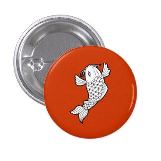 Botón del pictograma del 鯉 de Koi/de la carpa Pin Redondo De 1 Pulgada