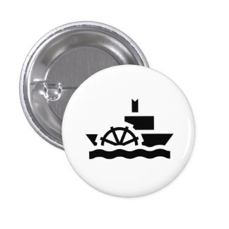 "Botón del pictograma del ""barco de vapor"" pin"