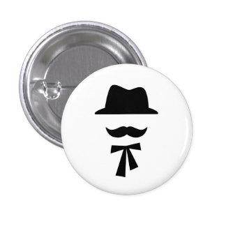 Botón del pictograma del bigote y del gorra
