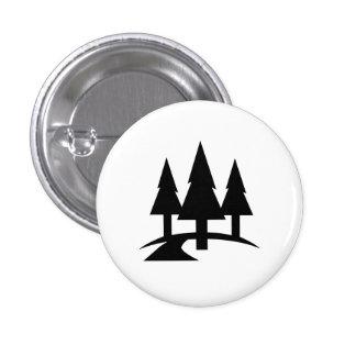Botón del pictograma del bosque pin redondo de 1 pulgada