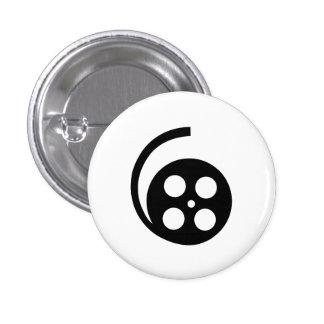 Botón del pictograma del carrete de la película pin redondo de 1 pulgada