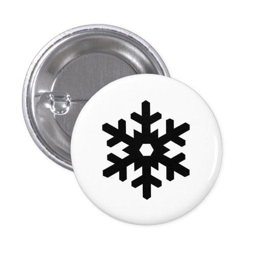 """Botón del pictograma del """"copo de nieve"""" pins"""