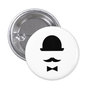 Botón del pictograma del hongo del bigote y