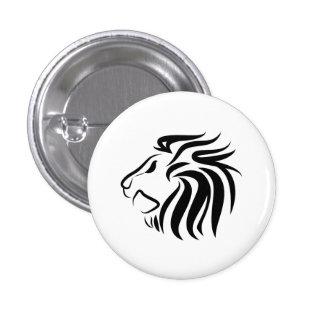 Botón del pictograma del león pin redondo de 1 pulgada