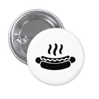 """Botón del pictograma del """"perrito caliente"""" pins"""