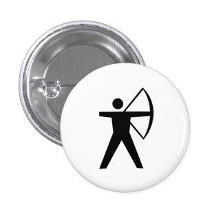 "Botón del pictograma del ""tiro al arco"" pin redondo de 1 pulgada"