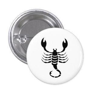 Botón del pictograma del zodiaco del escorpión pins