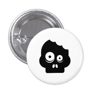 Botón del pictograma del zombi pin