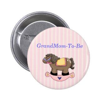 Botón del Pin de la abuela de la fiesta de bienven