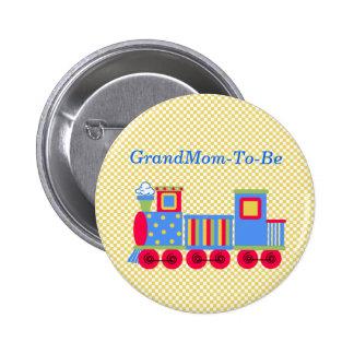 Botón del Pin de la abuela del tren de la fiesta d