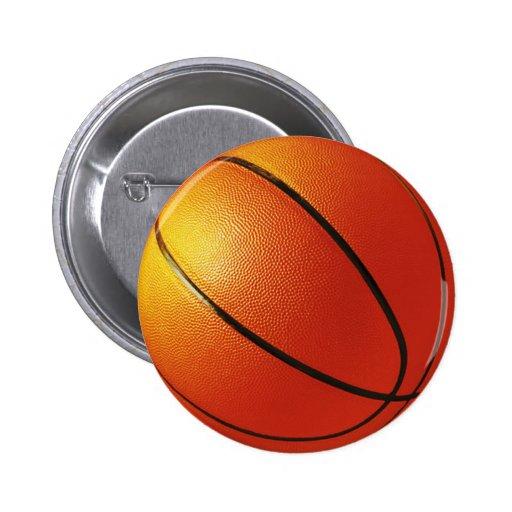 Botón del Pin de la insignia del baloncesto