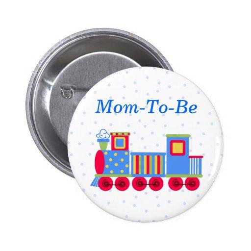 Botón del Pin de la mamá de la fiesta de bienvenid