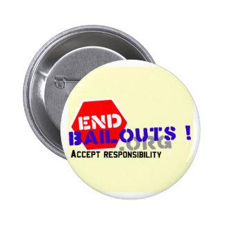 Botón del Pin de la solapa de los desalojos urgent
