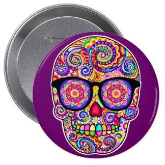 Botón del Pin del cráneo del azúcar del