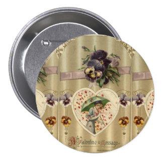 Botón del Pin del el día de San Valentín de señora