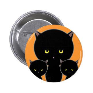Botón del Pin del gato de Halloween