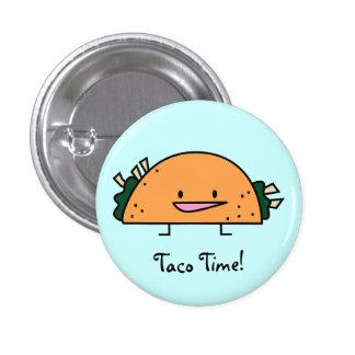 Botón del Pin del tiempo del Taco