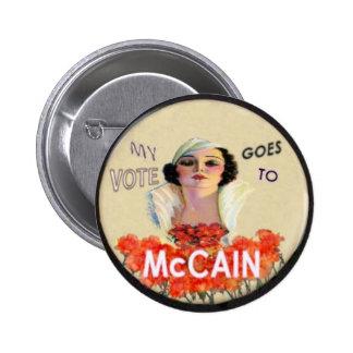 Botón del Pin-Para arriba de McCain