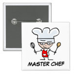 Botón del pinback del maestro cocinero