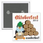 Botón del pingüino de Oktoberfest Pin