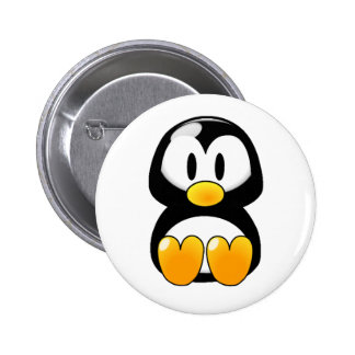 Botón del pingüino del bebé pin