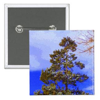 Botón del pino del invierno pin cuadrado