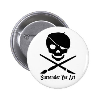 Botón del pirata del artista