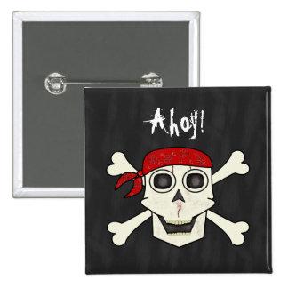 Botón del pirata del cráneo pin