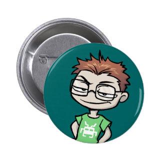 Botón del pirata informático de Forumwarz Pin Redondo De 2 Pulgadas