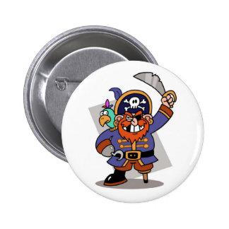 Botón del pirata pin redondo de 2 pulgadas