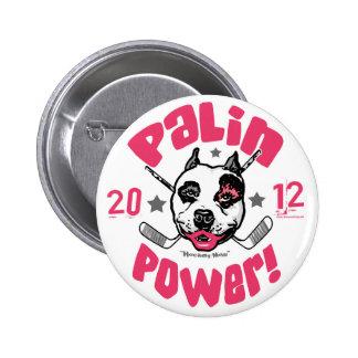 Botón del pitbull 2012 del poder de Palin Pin