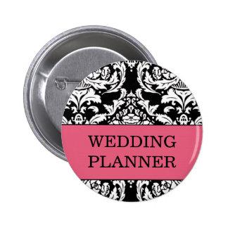 Botón del planificador del boda pin redondo de 2 pulgadas