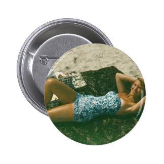 botón del plath de Sylvia Pin Redondo De 2 Pulgadas
