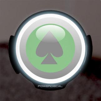 Botón del póker - espada sticker LED para ventana
