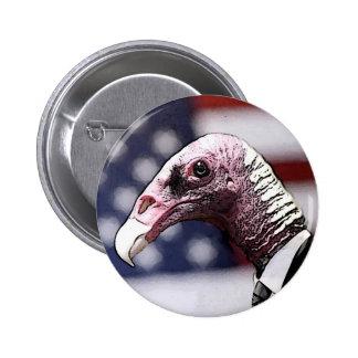 Botón del político del buitre pins