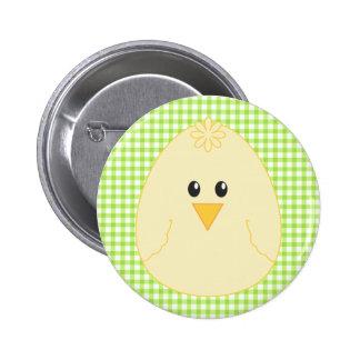 Botón del pollo de la guinga pin redondo de 2 pulgadas