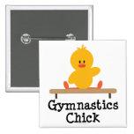 Botón del polluelo de la gimnasia pin