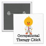 Botón del polluelo de la terapia profesional pin
