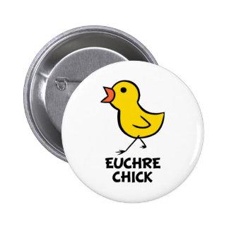 Botón del polluelo del Euchre Pin Redondo De 2 Pulgadas
