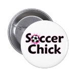 Botón del polluelo del fútbol pin