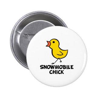 Botón del polluelo del Snowmobile Pin Redondo De 2 Pulgadas
