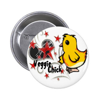 Botón del polluelo del Veggie Pin Redondo De 2 Pulgadas