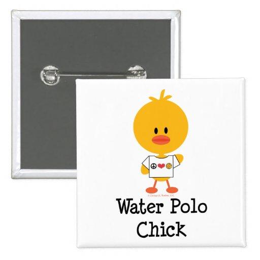 Botón del polluelo del water polo pin cuadrado