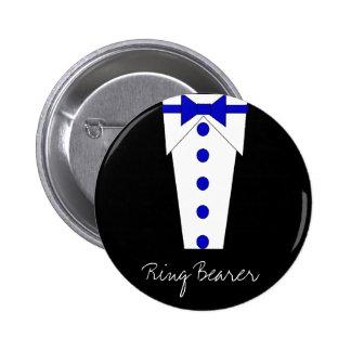 Botón del portador de anillo (azul) pin redondo de 2 pulgadas