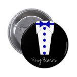 Botón del portador de anillo (azul) pins